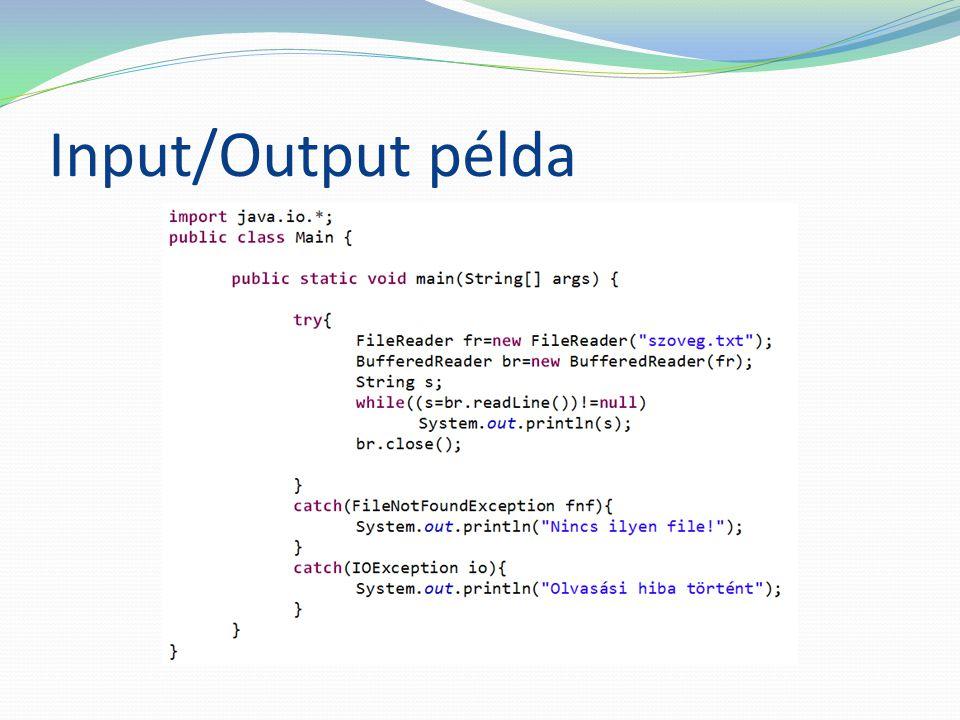 Input/Output példa