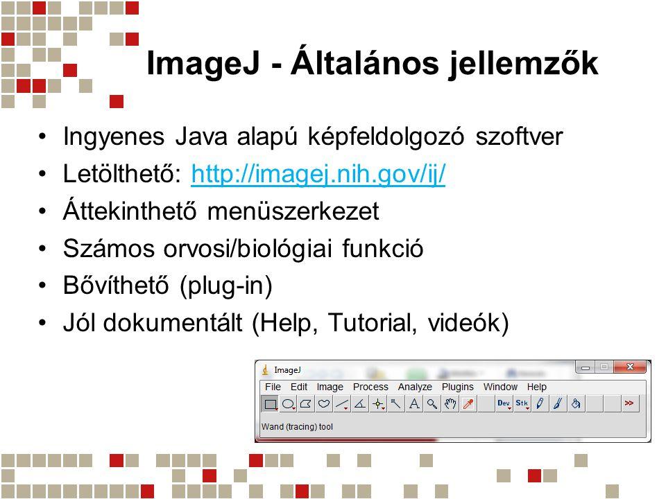 ImageJ - Általános jellemzők
