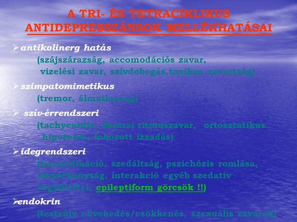 A TRI- ÉS TETRACIKLIKUS ANTIDEPRESSZÁNSOK MELLÉKHATÁSAI
