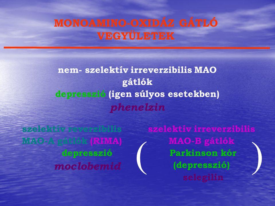 ( ) MONOAMINO-OXIDÁZ GÁTLÓ VEGYÜLETEK