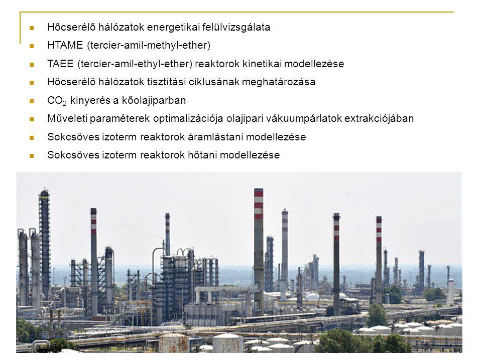 Hőcserélő hálózatok energetikai felülvizsgálata