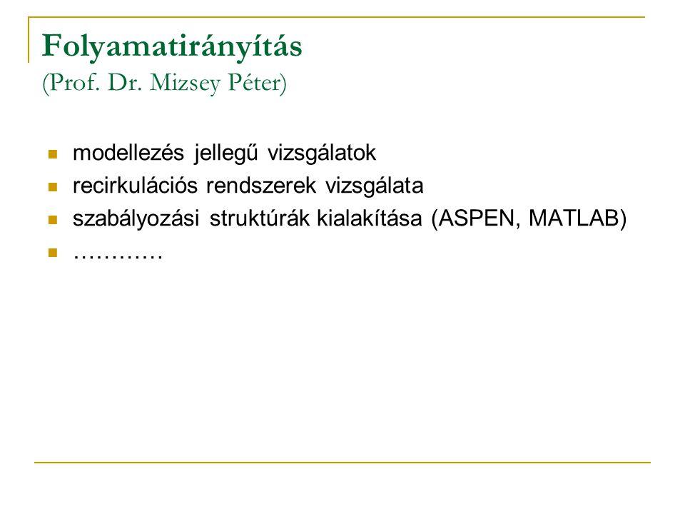 Folyamatirányítás (Prof. Dr. Mizsey Péter)