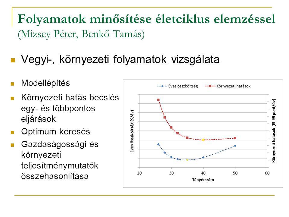 Folyamatok minősítése életciklus elemzéssel (Mizsey Péter, Benkő Tamás)