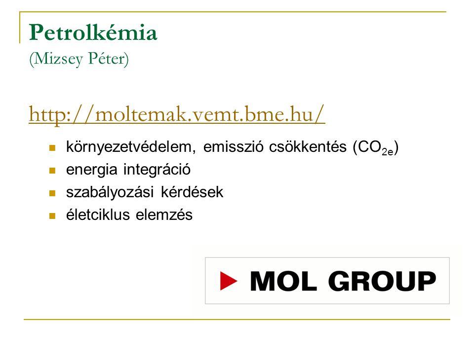 Petrolkémia (Mizsey Péter) http://moltemak.vemt.bme.hu/