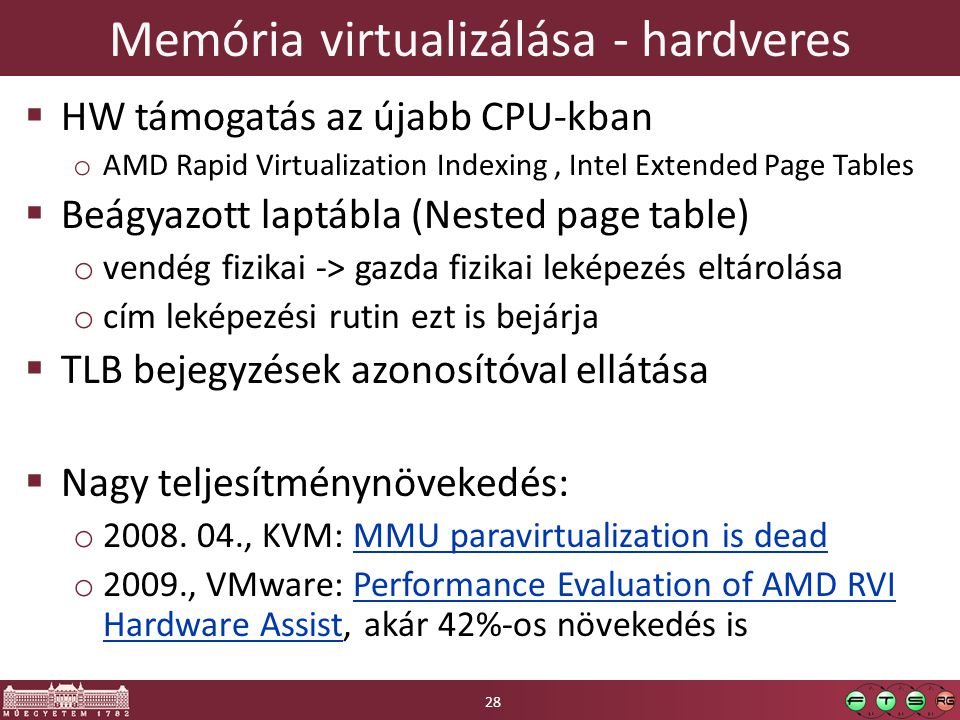Memória virtualizálása - hardveres