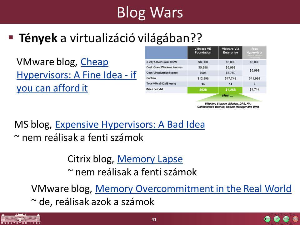 Blog Wars Tények a virtualizáció világában