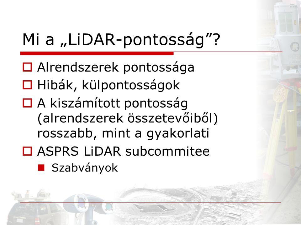 "Mi a ""LiDAR-pontosság"