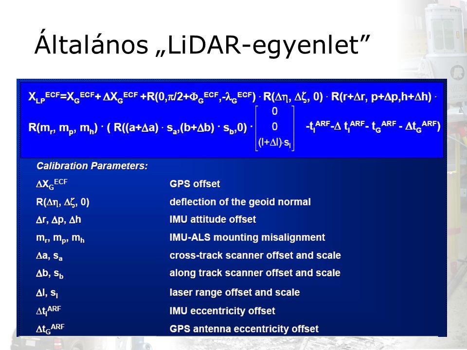 """Általános """"LiDAR-egyenlet"""