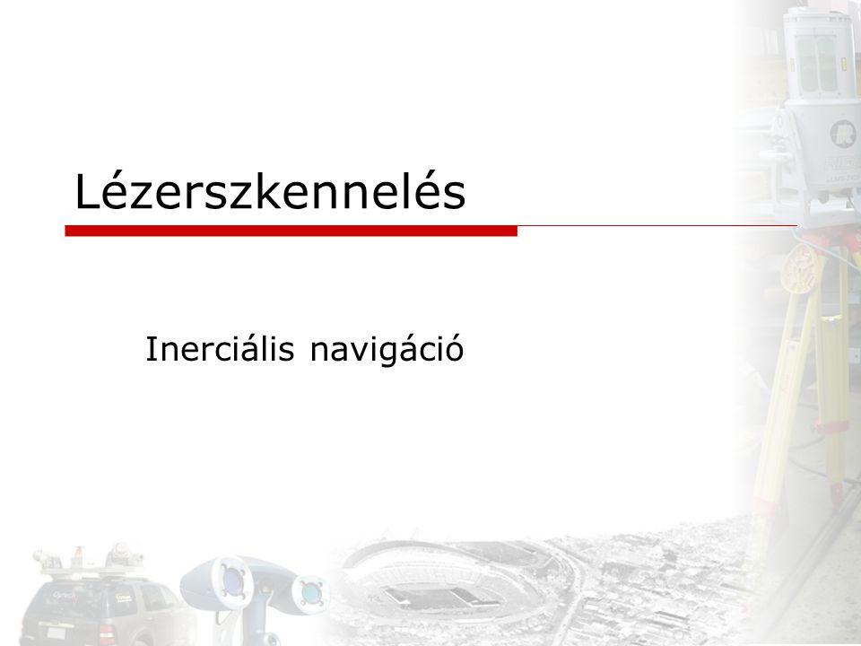 Lézerszkennelés Inerciális navigáció