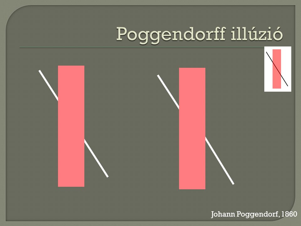 Poggendorff illúzió Johann Poggendorf, 1860