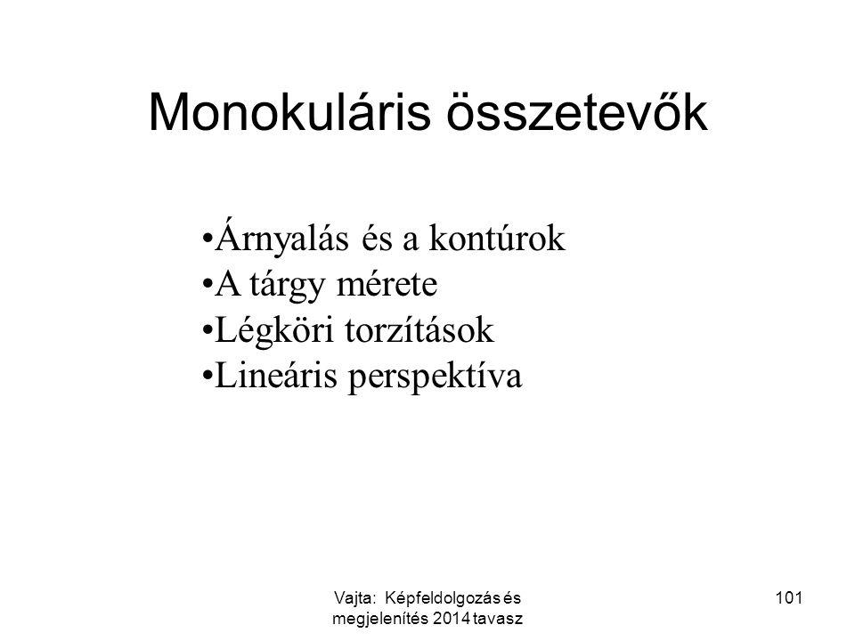 Monokuláris összetevők
