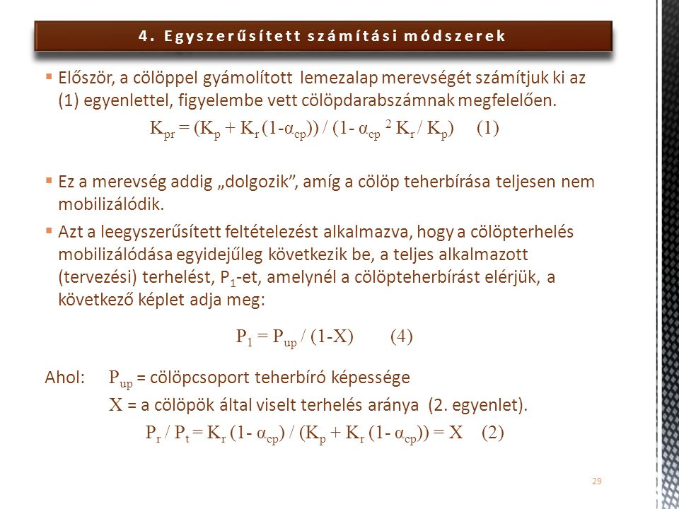 4. Egyszerűsített számítási módszerek