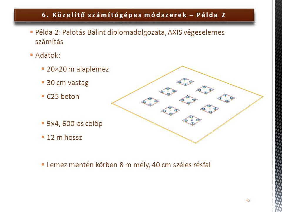 6. Közelítő számítógépes módszerek – Példa 2