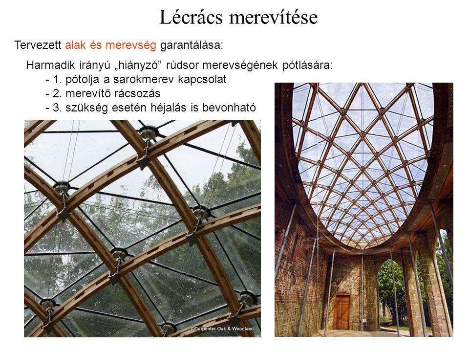 Lécrács merevítése Tervezett alak és merevség garantálása: