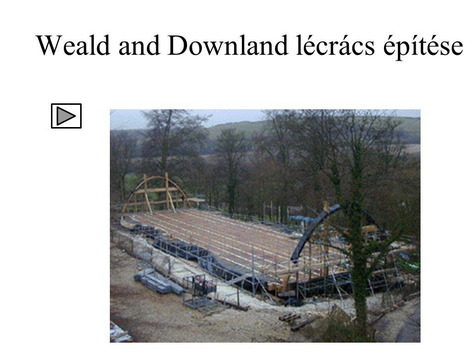 Weald and Downland lécrács építése