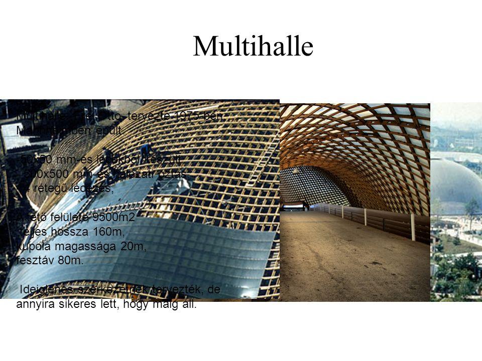 Multihalle Multihalle: Frei Otto tervezte 1975-ben, Mannheimben épült.