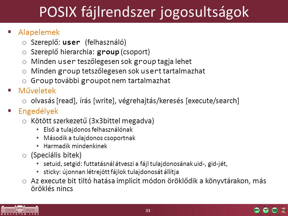 POSIX fájlrendszer jogosultságok