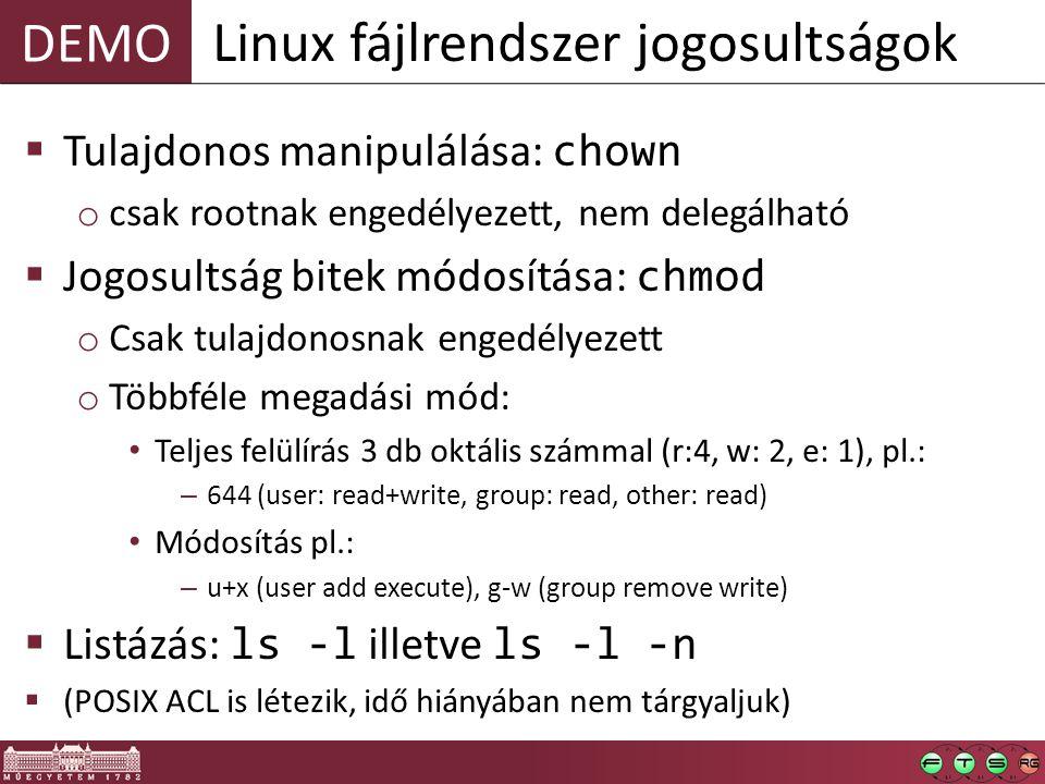 Linux fájlrendszer jogosultságok