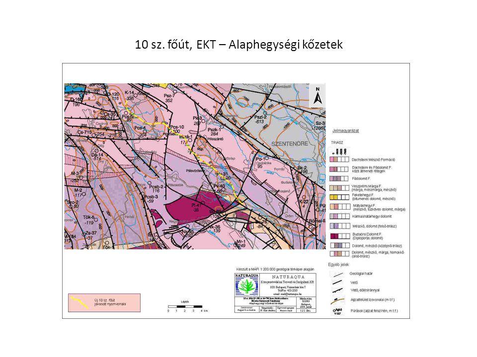 10 sz. főút, EKT – Alaphegységi kőzetek