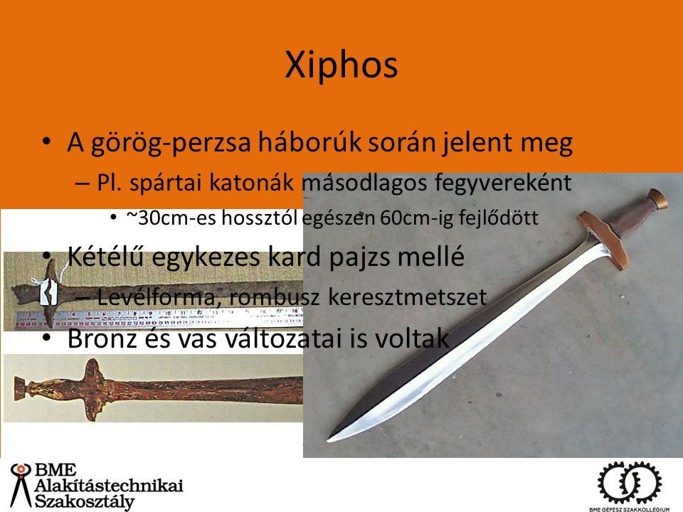 Xiphos A görög-perzsa háborúk során jelent meg
