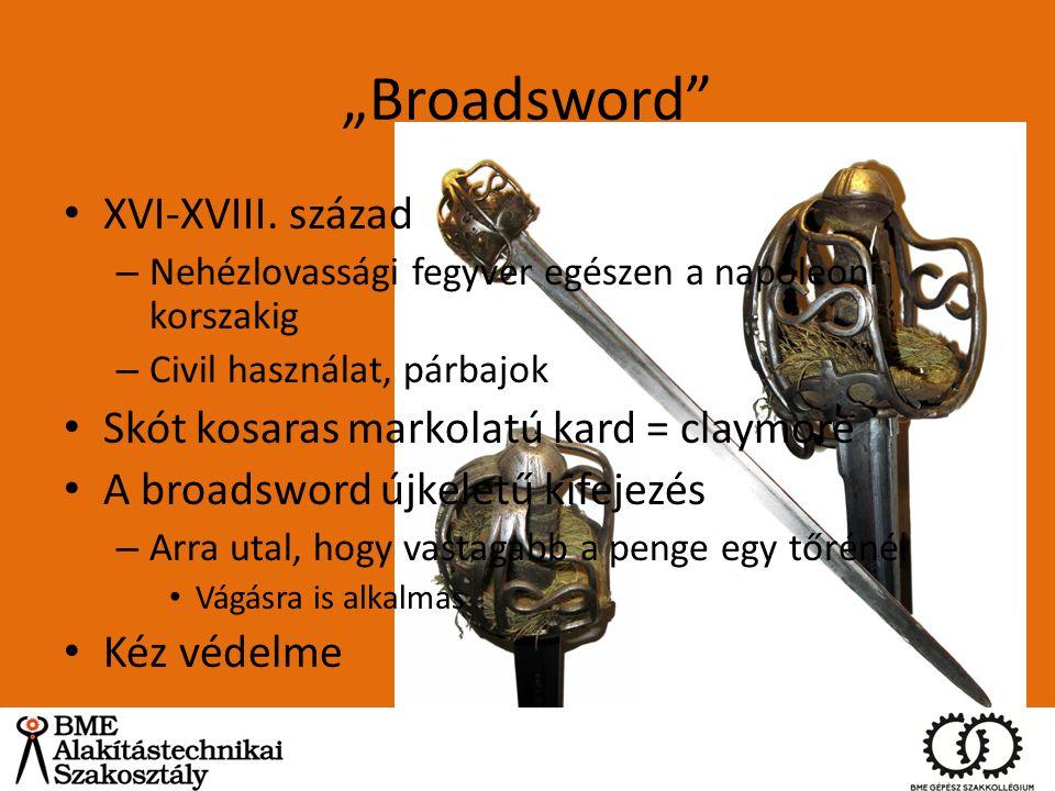 """Broadsword XVI-XVIII. század Skót kosaras markolatú kard = claymore"