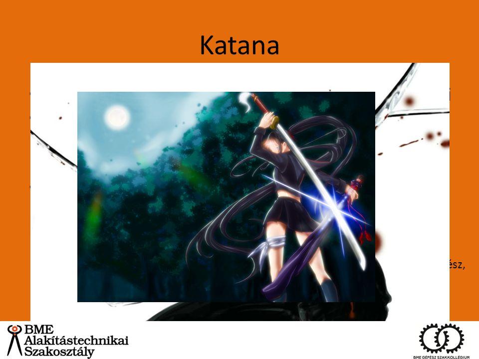 Katana XII. század körül jelent meg, a tachi-ból fejlődött ki