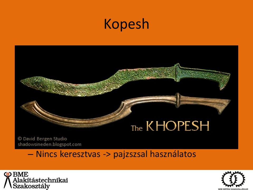 Kopesh Egyiptom i.e. 1570-1070 körül ~ 60dkg, 12% ón