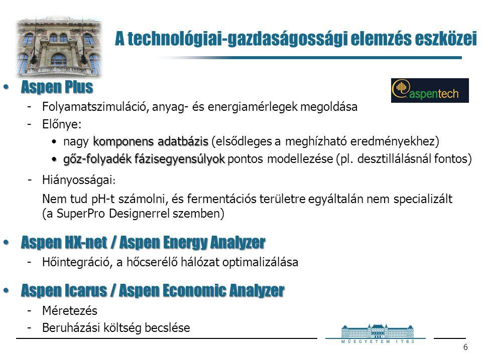 A technológiai-gazdaságossági elemzés eszközei