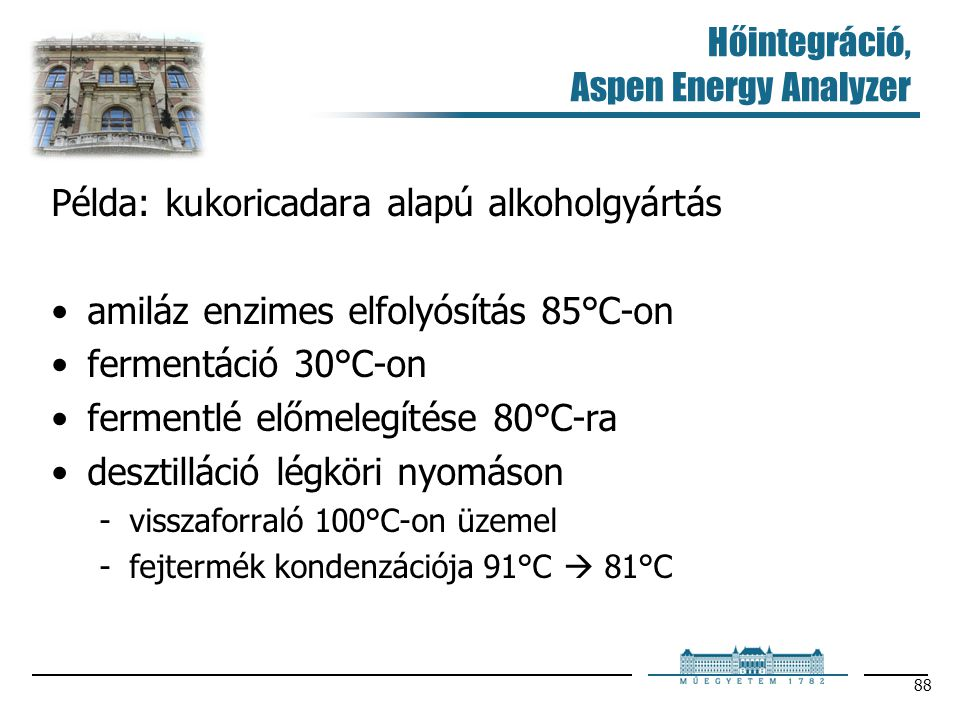Hőintegráció, Aspen Energy Analyzer