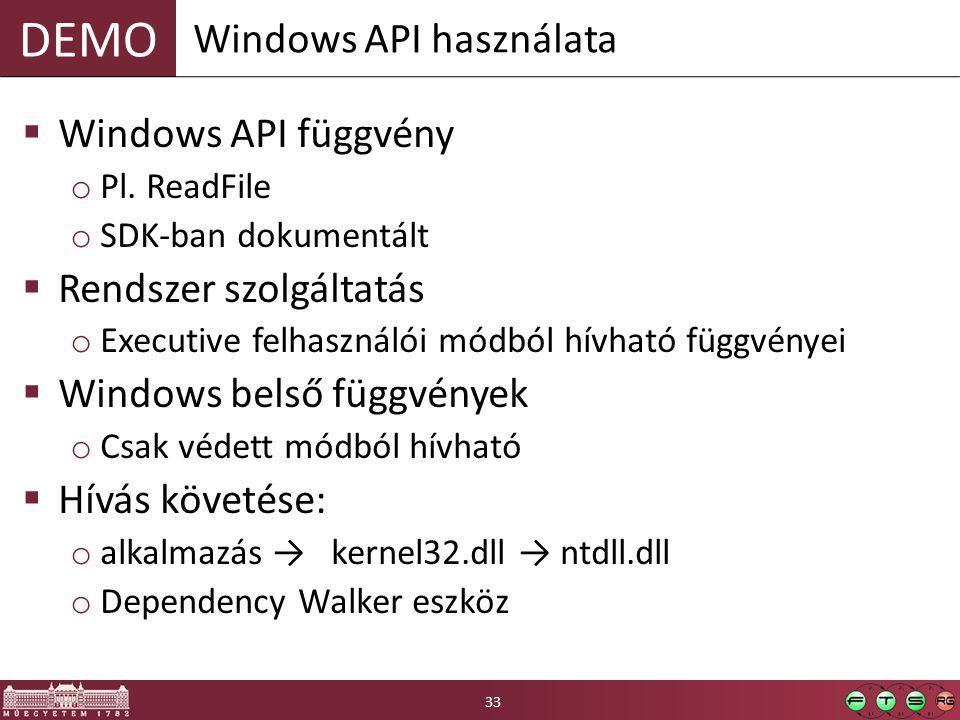 Windows API használata