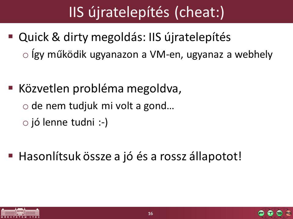 IIS újratelepítés (cheat:)