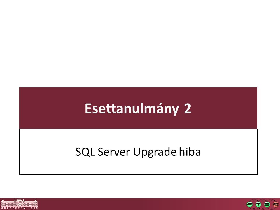 SQL Server Upgrade hiba