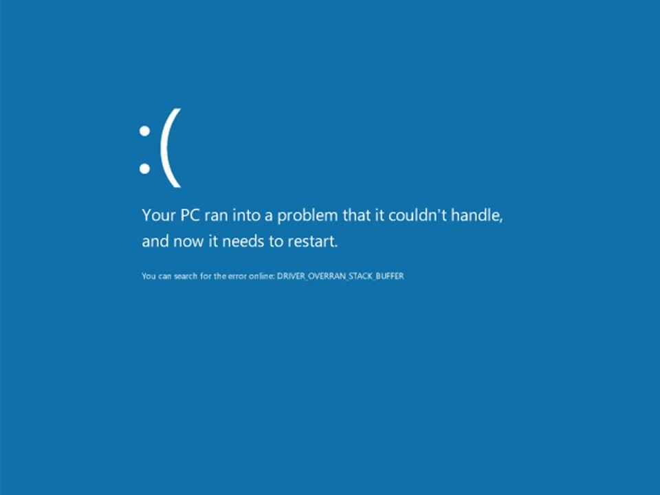 Ez a Windows 8-ban bevezetett új BSOD képernyő