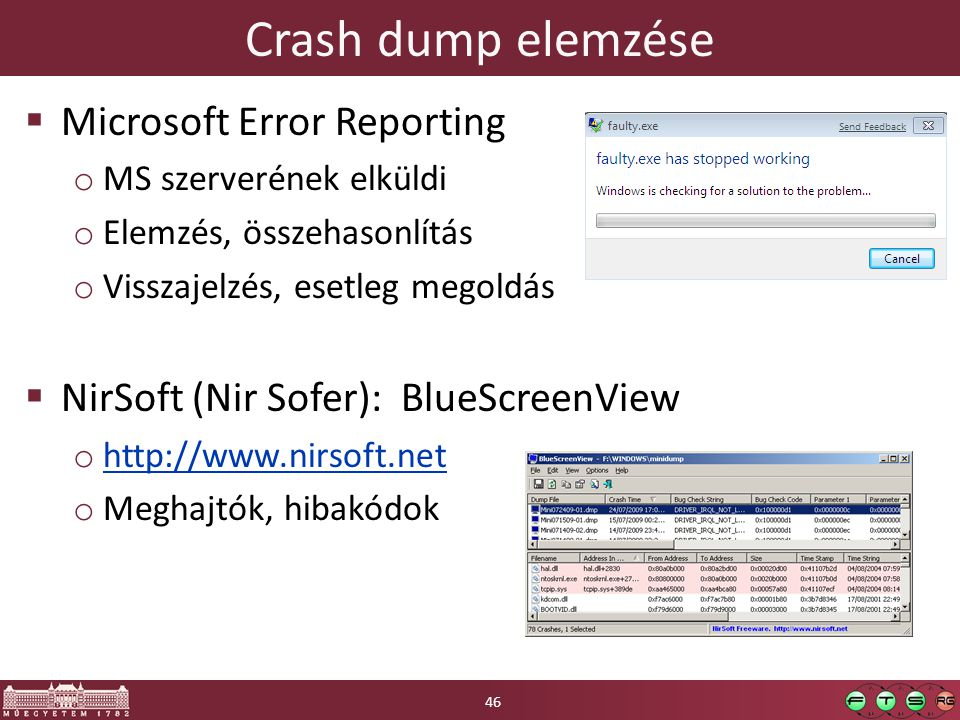 Crash dump elemzése Microsoft Error Reporting