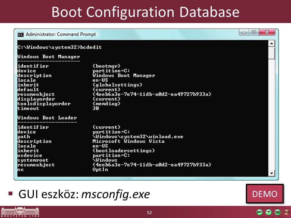 Boot Configuration Database