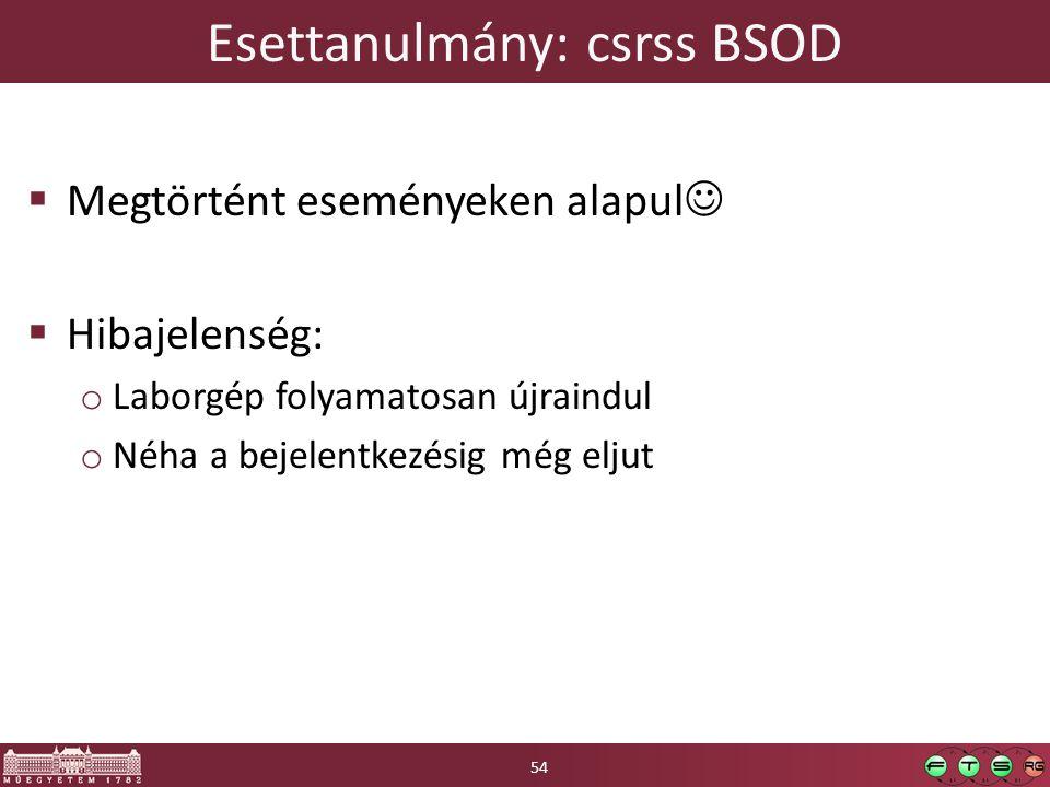 Esettanulmány: csrss BSOD