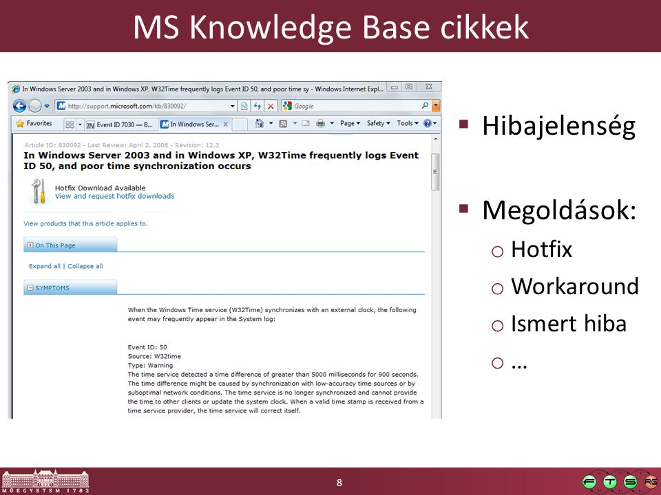 MS Knowledge Base cikkek
