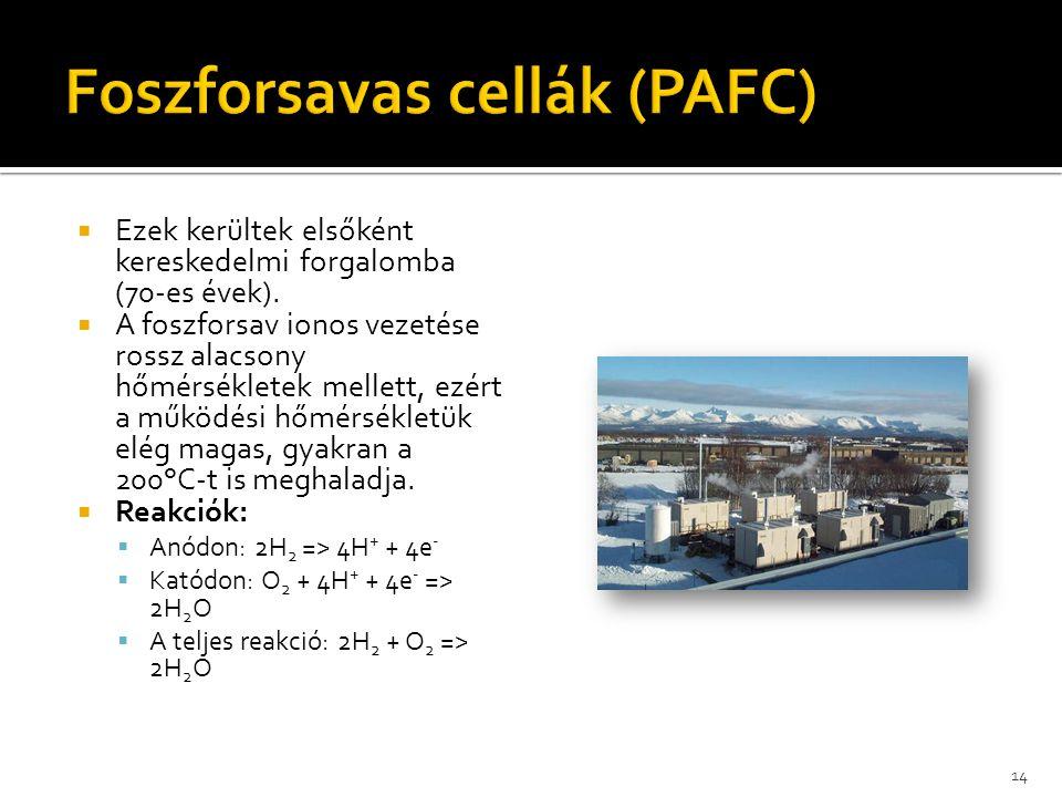 Foszforsavas cellák (PAFC)