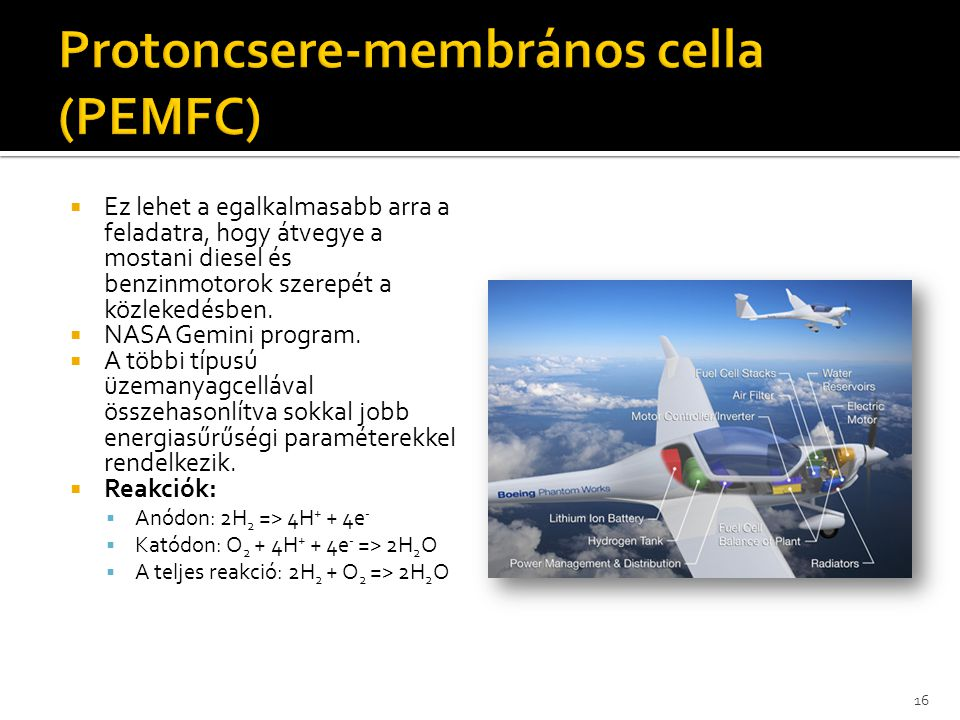 Protoncsere-membrános cella (PEMFC)