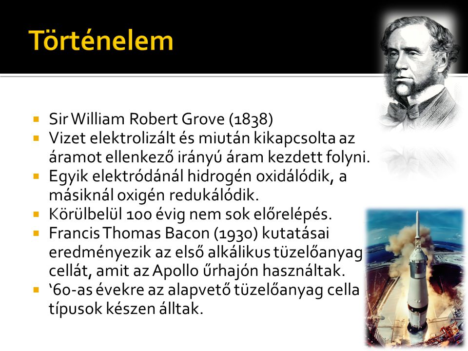 Történelem Sir William Robert Grove (1838)