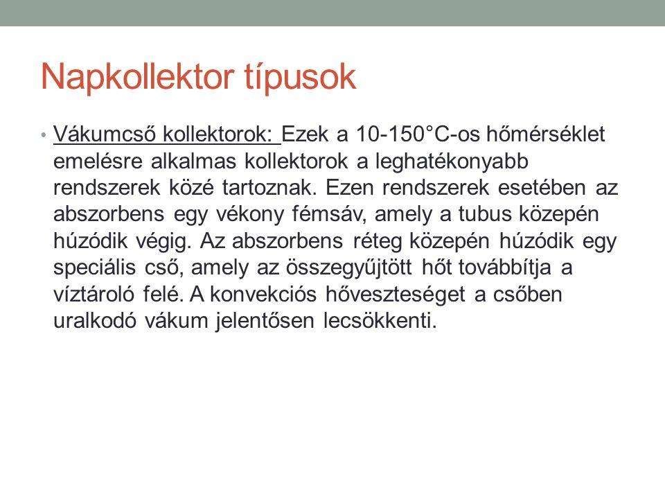 Napkollektor típusok