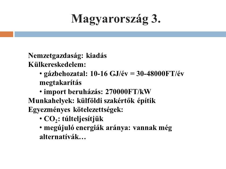 Magyarország 3. Nemzetgazdaság: kiadás Külkereskedelem: