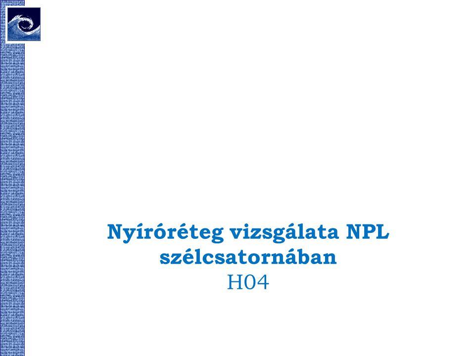 Nyíróréteg vizsgálata NPL szélcsatornában