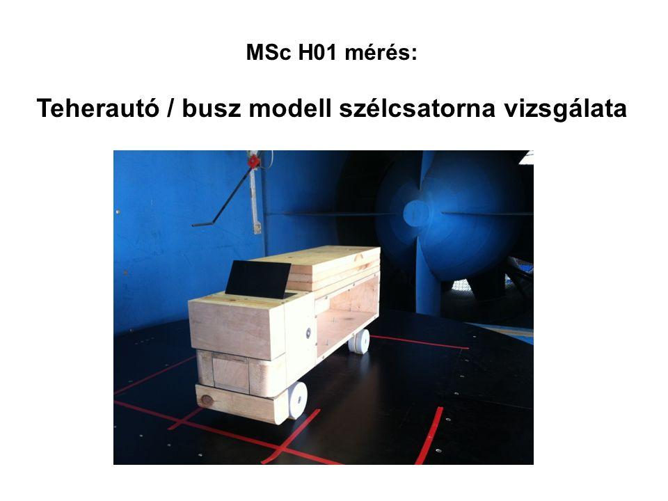 Teherautó / busz modell szélcsatorna vizsgálata