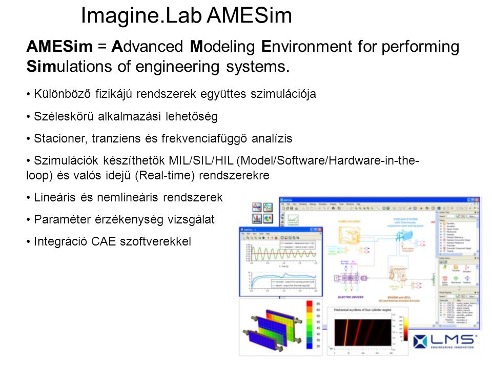 Imagine.Lab AMESim AMESim = Advanced Modeling Environment for performing Simulations of engineering systems.