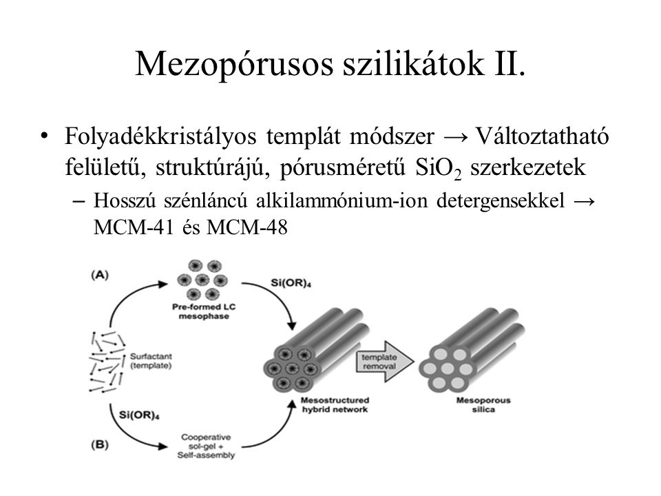 Mezopórusos szilikátok II.