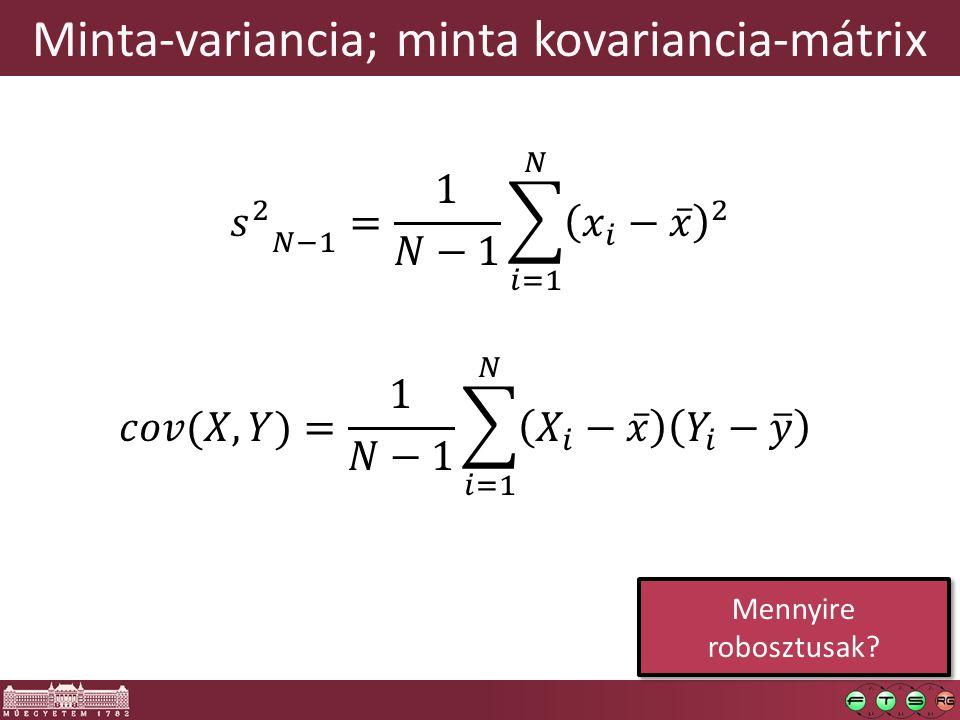 Minta-variancia; minta kovariancia-mátrix