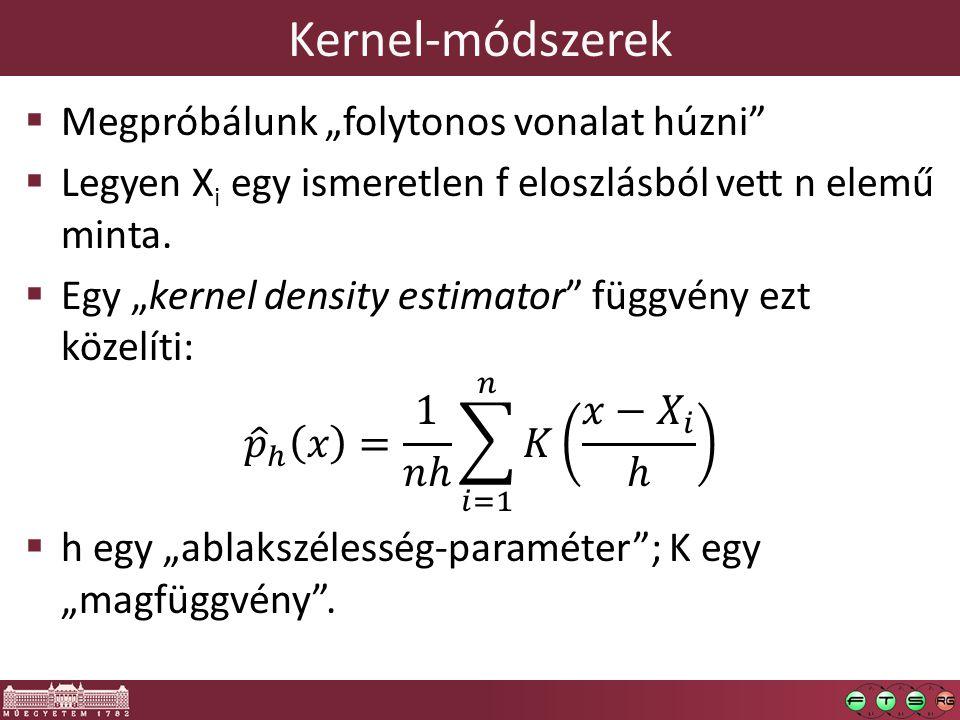 """Kernel-módszerek Megpróbálunk """"folytonos vonalat húzni"""