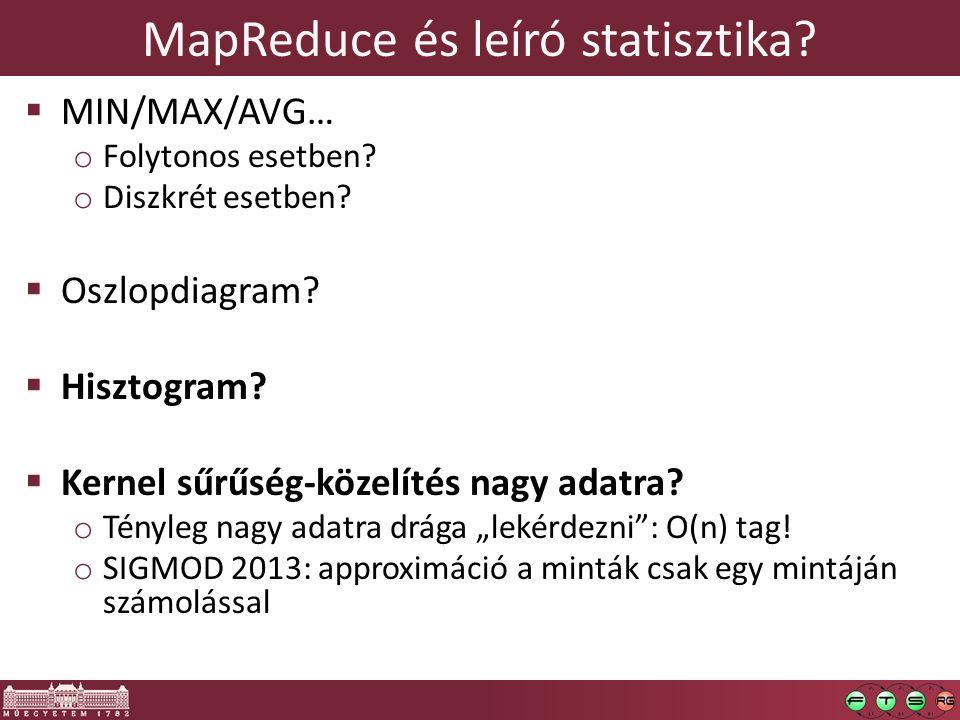 MapReduce és leíró statisztika