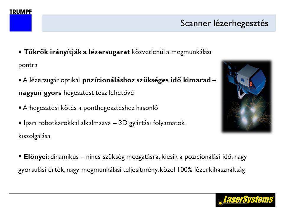 Scanner lézerhegesztés